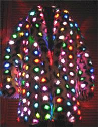 Стильное пальто с огоньками