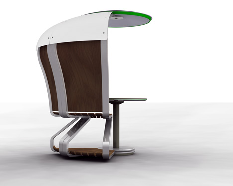 Уличный мобильный офис на солнечных батареях