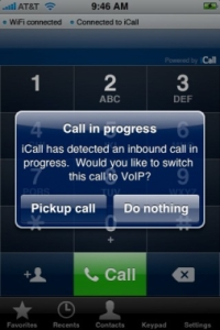 С iCall вы легко переключите iPhone с GSM на WiFi