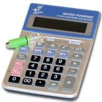 Калькулятор, работающий на воде