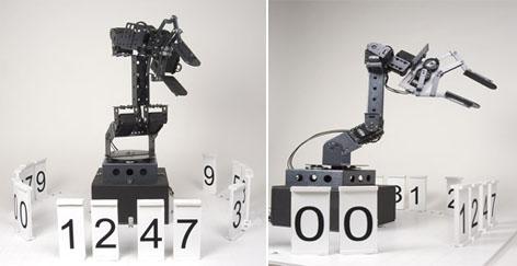 Stonehenge - цифровые часы, управляемые роботом