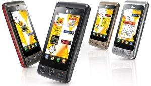 LG KP500 – самый доступный телефон с сенсорным дисплеем