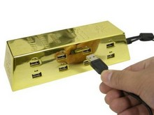 Золотой USB-хаб от Thanko Gold Ingot USB Hub