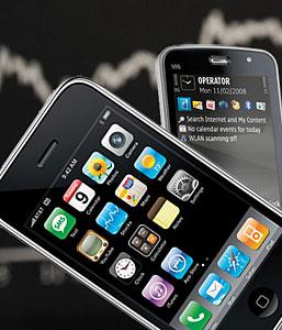 Apple по продажам на один шаг опережает Windows Mobile