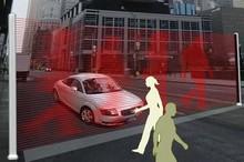 Виртуальная стена, оберегающая пешеходов