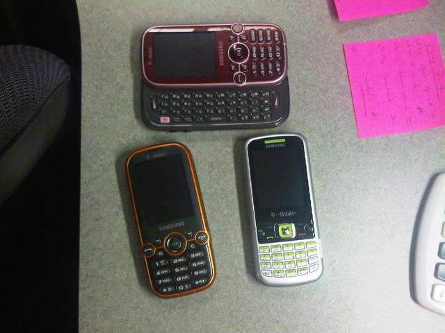 Четыре неанонсированных Samsung: QWERTY, сенсорный экран и многое другое