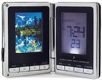 Travel Alarm Clock with Digital Picture Frame