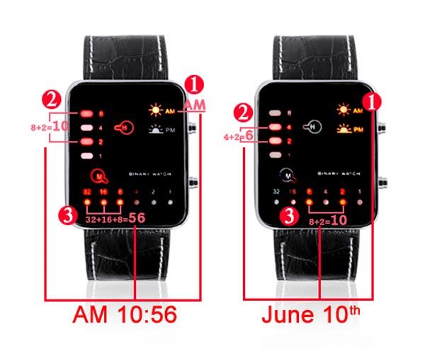 Бинарные часы Singularity LED Watch