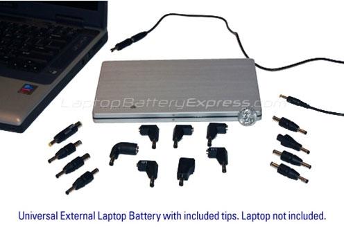 Универсальный внешний аккумулятор, совместимый с около 10000  моделями лэптопов