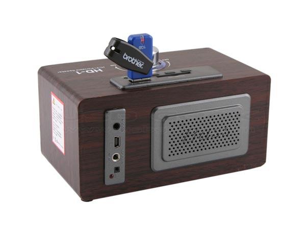 Компактный аудиоплеер USB Retro Wooden Speaker MP3 Player