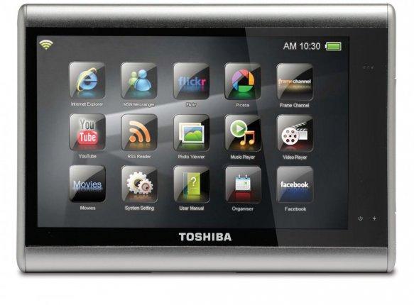 JournE - первый мультимедийный планшет от Toshiba