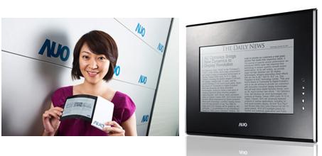 Гибкий E-paper дисплей и EPD-панель от AUO