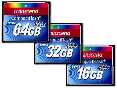 Transcend представляет новые карты памяти формата CompactFlash