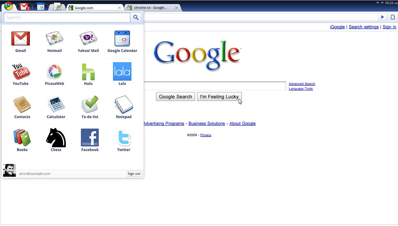 Все о Chrome OS от Google