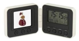 Портативная цифровая фоторамка с будильником