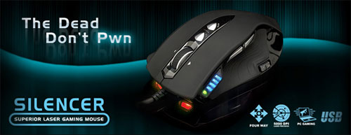 Silencer – новая мышь для геймеров от Cyber Snipa