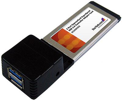 Карта расширения ExpressCard с двумя портами USB 3.0