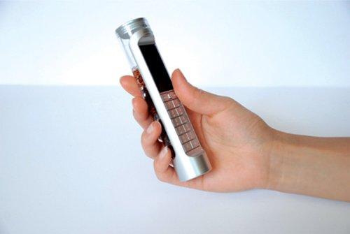 Концепт телефона, работающего на кока-коле