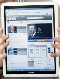 Английская фирма выпустила планшетник iTablet