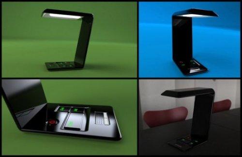 Lamptop – настольная лампа в форме ноутбука