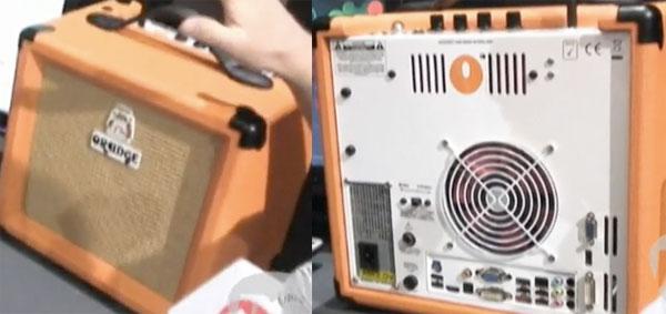 Компьютер и гитарный усилитель
