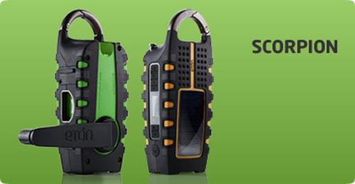 Eton Scorpion - экологически чистый гаджет для любителей активного отдыха