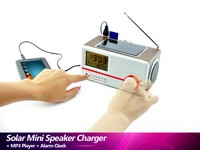 Solar mini speaker charger