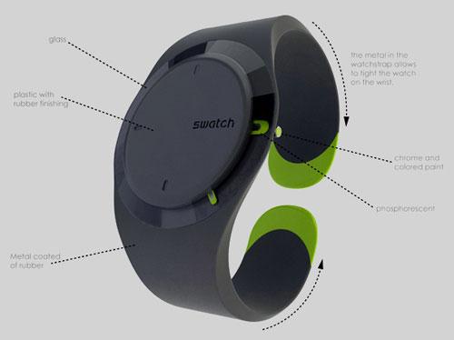 Износоустойчивый концепт наручных часов Swatch