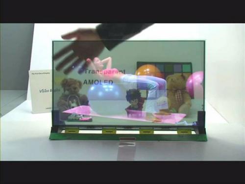 Прозрачный 19-дюймовый AMOLED экран от Samsung