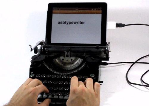Ретро-клавиатура из печатной машинки