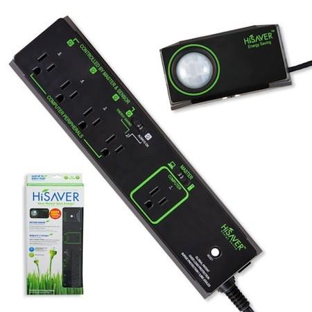 Сетевой фильтр HiSAVER может отключать питание, когда вы выходите из комнаты