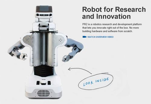 Робот PR2 от Willow Garage – прогресс не может быть дешевым