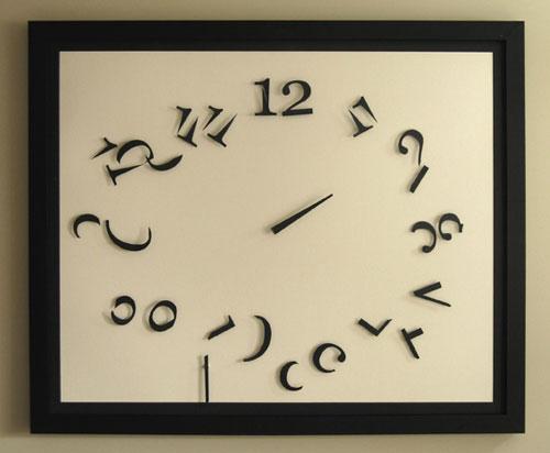 Настенные часы Order in Chaos сломают ваше представление о времени