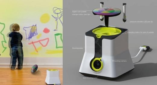 С проектором KLEXL дети могут рисовать на стенах и не быть наказанными