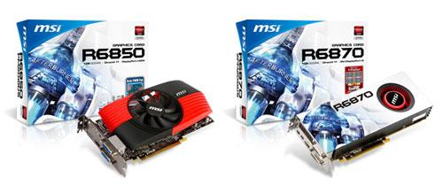 MSI представила видеокарты AMD R6850 и R6870