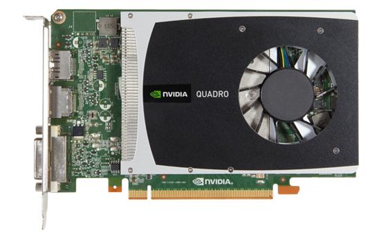 Компания NVIDIA представила видеокарты Quadro 2000 и Quadro 600