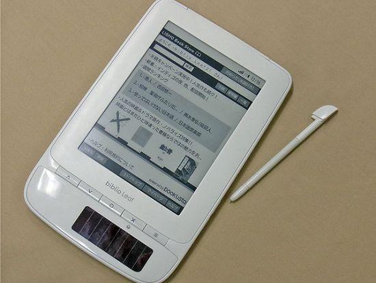 Biblio Leaf – первая в мире читалка на солнечной батарее