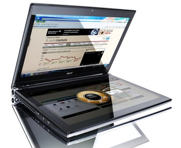 Нотбук с двумя экранами Acer Iconia будет стоить 1499 евро, а продажи начнутся в январе