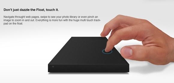 Концепт «парящего» внешнего жесткого диска с тачпадом