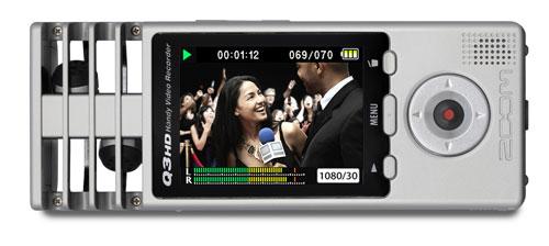 Рекордер для записи видео и аудио высокого разрешения Zoom Q3HD поступил в продажу