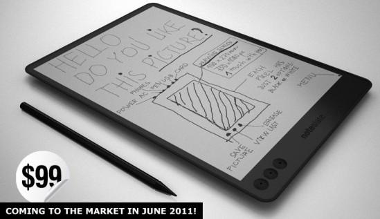 NoteSlate – планшетник с экраном из электронной бумаги за 99 долларов