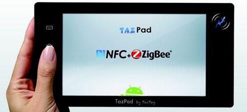 TazPad – первый Android-планшетник с технологией NFC