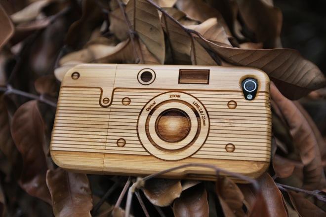 Бамбуковая защитная оболочка превратит iPhone в ретро-камеру