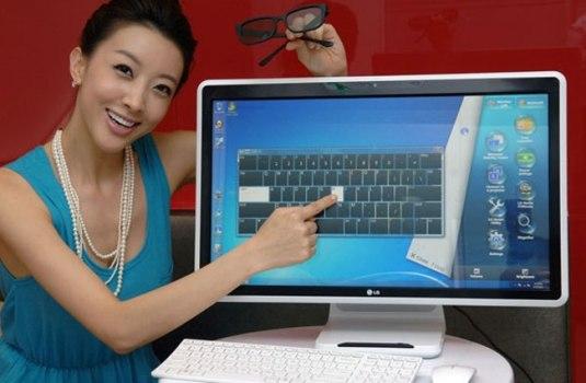 LG представляет компьютер «все-в-одном» с сенсорным экраном и пассивным 3D