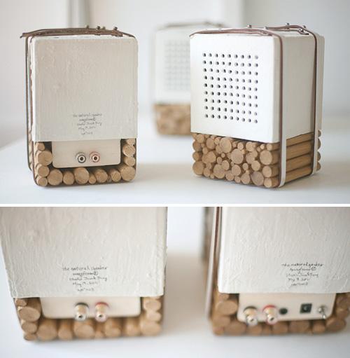 Колонки из дерева и фарфора от Joon & Jung