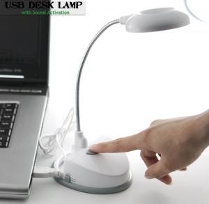 USB настольная лампа с активацией по звуку