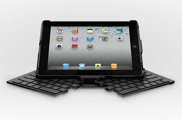 Складная клавиатура и джойстик на присосках для iPad от Logitech