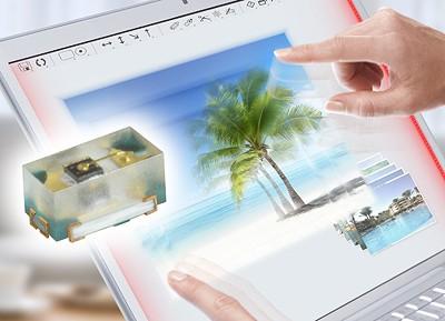 Ультратонкие инфракрасные светодиоды для сенсорных экранов