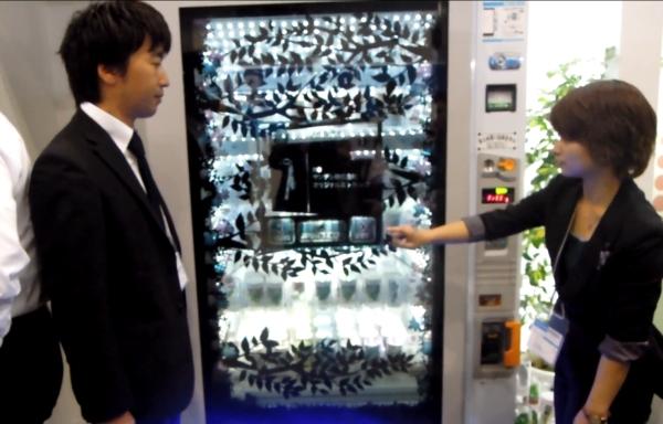 Прозрачный сенсорный дисплей для торговых автоматов