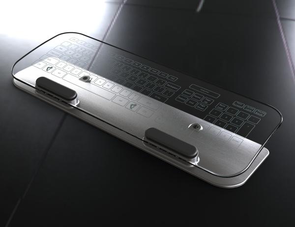 Проект стеклянных сенсорных клавиатуры и мыши